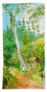 Plantain Walk Watchman And Hut Beach Towel
