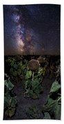 Plants Vs Milky Way Beach Towel