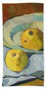 Plate Of Apples Beach Towel by Paul Serusier