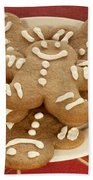 Plateful Of Gingerbread Cookies Beach Towel by Juli Scalzi