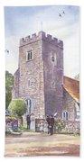 Plaxtol Church Wedding Beach Towel