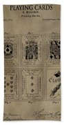Playing Cards Patent Beach Towel