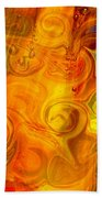 Playing With Bubbles Textured Abstract Artwork By Omaste Witkows Beach Towel by Omaste Witkowski