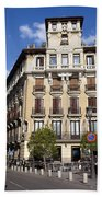 Plaza De Ramales Tenement House Beach Towel