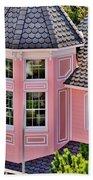 Beautiful Pink Turret - Boardwalk Plaza Hotel Annex - Rehoboth Beach Delaware Beach Towel