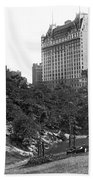 Plaza Hotel From Central Park Beach Towel
