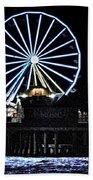Pleasure Pier Ferris Wheel Beach Towel
