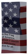 Pledge Of Allegiance Beach Towel