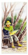 Plein Air Artist At Work Beach Towel by Irina Sztukowski