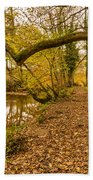 Plessey Woods Riverside Footpath Beach Towel