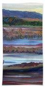 Plum Island Salt Marsh Sunset Beach Towel