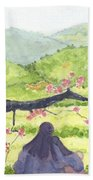 Plumb Blossom Love Beach Sheet