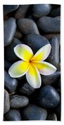 Plumeria Pebbles Beach Towel