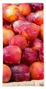 Plums In A Basket Beach Towel