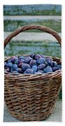 Plums In A Basket, Southern Bohemia Beach Towel