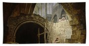 Plundering The Royal Vaults At St. Denis In October 1793 Oil On Canvas Beach Towel