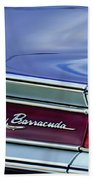 Plymouth Barracuda Taillight Emblem Beach Towel