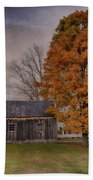 Plymouth Notch Barn In The Fall Beach Towel