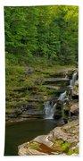 Poconos Ledges Waterfall Beach Sheet