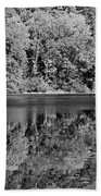 Poinsett State Park In Black And White Beach Towel