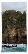 Point Lobos Coastal View Beach Towel