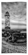 Point Of Ayre Lighthouse Beach Towel
