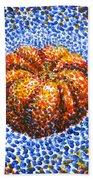 Pointillism Pumpkin Beach Towel