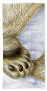 Polar Bear Paw Beach Towel