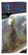 Polar Bear With Enameled Effect Beach Towel