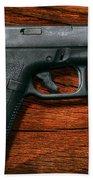 Police - Gun - The Modern Gun  Beach Towel