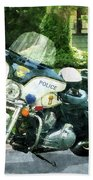 Police - Police Motorcycle Beach Towel