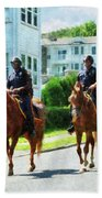 Police - Two Mounted Police Beach Towel