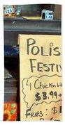 Polish Food Street Stand Beach Towel