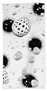 Polka Dots And Water Drops Beach Towel
