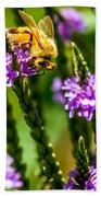 Pollinating Bee Beach Towel