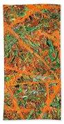 Pollock's Carrots Beach Towel