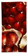 Pomegranate Seeds Beach Towel