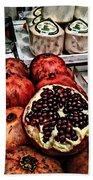 Pomegranates In Open Market Art II Beach Towel