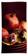 Pomegranates Beach Towel