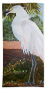 Ponce Point Egret Beach Towel
