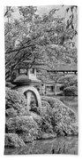 Pond At Heian Shrine - Kyoto Beach Towel