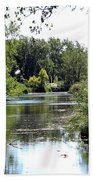 Pond At Tifft Nature Preserve Buffalo New York  Beach Towel