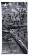 Pond Down The Road Beach Towel