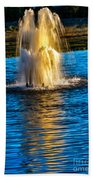Pond Fountain Beach Towel