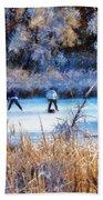 Pond Hockey - Painterly Beach Towel