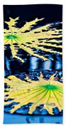Pond Lily Pad Abstract Beach Towel