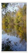 Pond Reflection At Limehouse Ontario Beach Towel