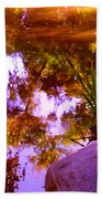 Pond Reflextions Beach Towel