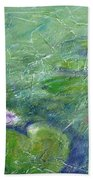 Green Pond With Water Lily Beach Towel