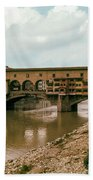 Pont De Vecchio On The Arno Beach Towel